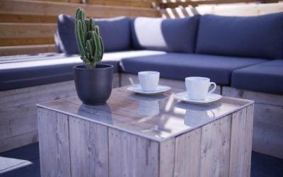 Dessus de table en plexiglass pour votre table de jardin