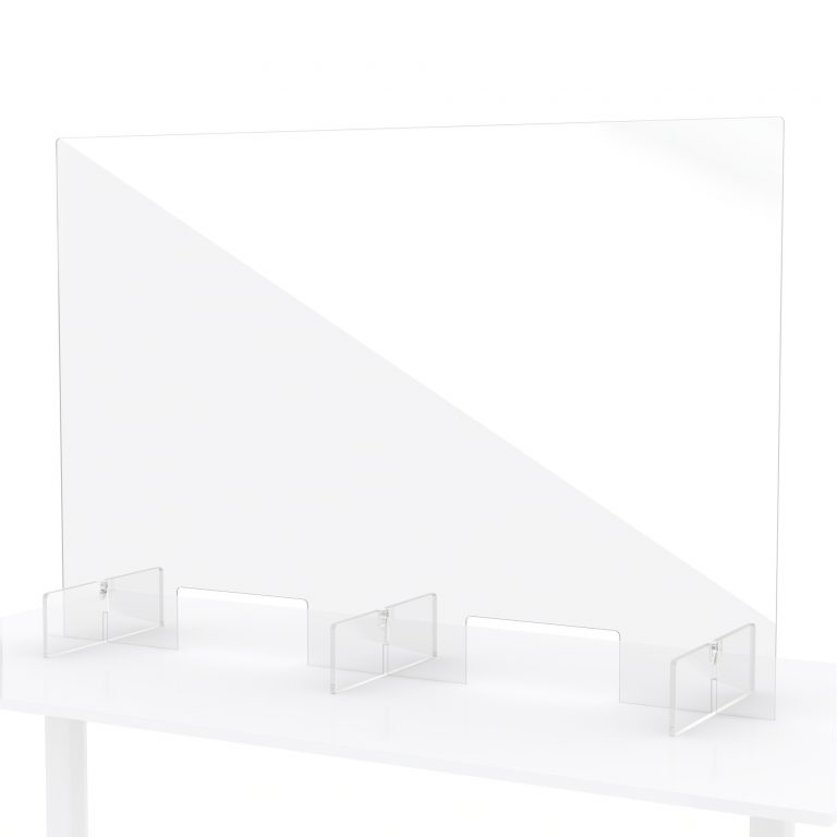 Protection pour comptoir en plexiglass 120x80