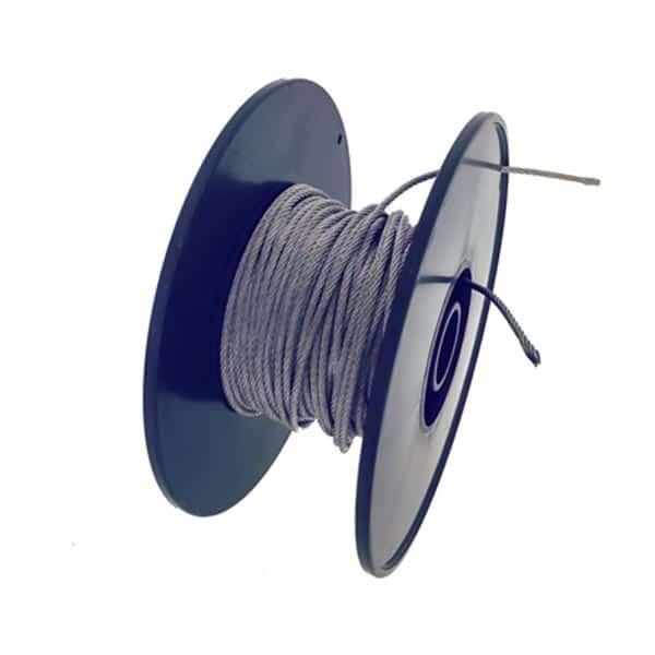 Fil en acier inoxydable - Systeme de suspension plexiglass