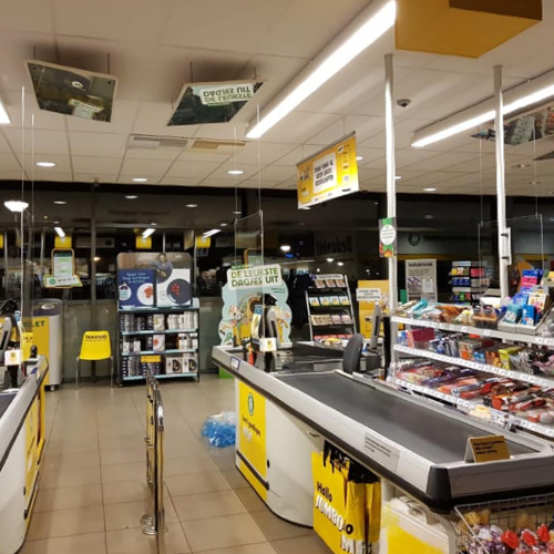Protection en plastique supermarche