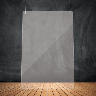 Suspension plexiglass transparente 100x75 cm