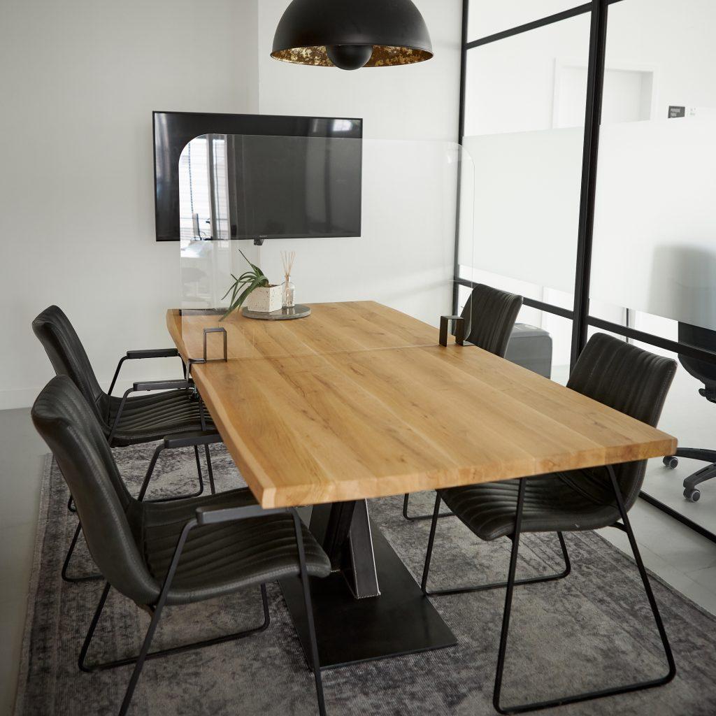 Ecran de table en plaque plexiglass