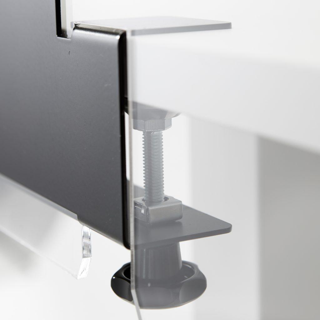 Pince de table pour plaques plexiglass
