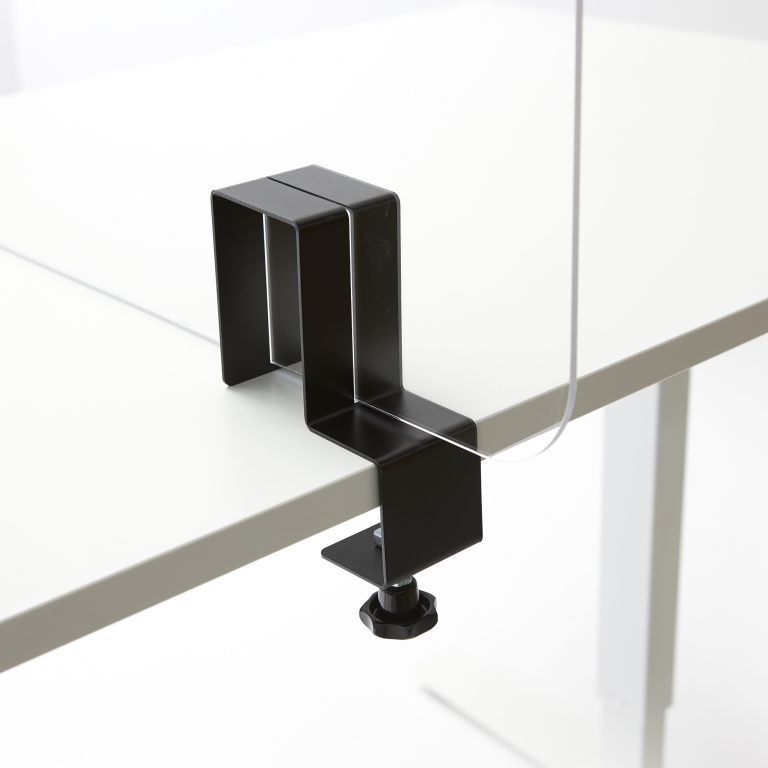 Support plexiglass pour la table