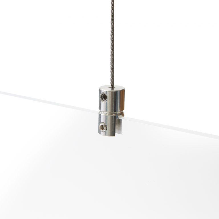 Systeme de suspension sans percer pour ecran en plexiglass