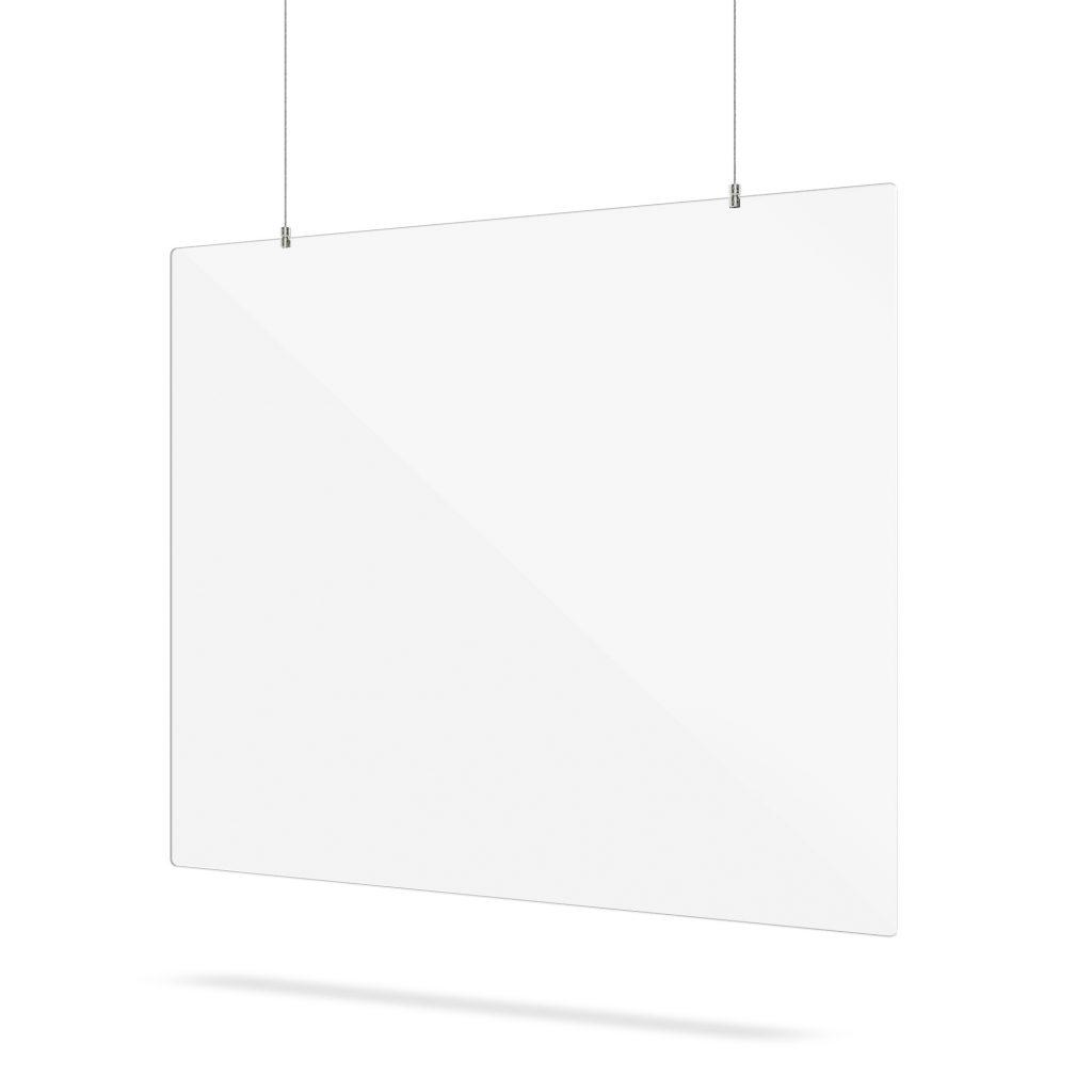 Ecran avec systeme de suspension en plexiglass