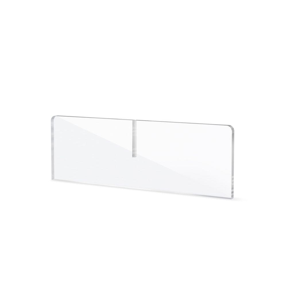 Socle en plexiglass pour ecran de protection pour comptoir