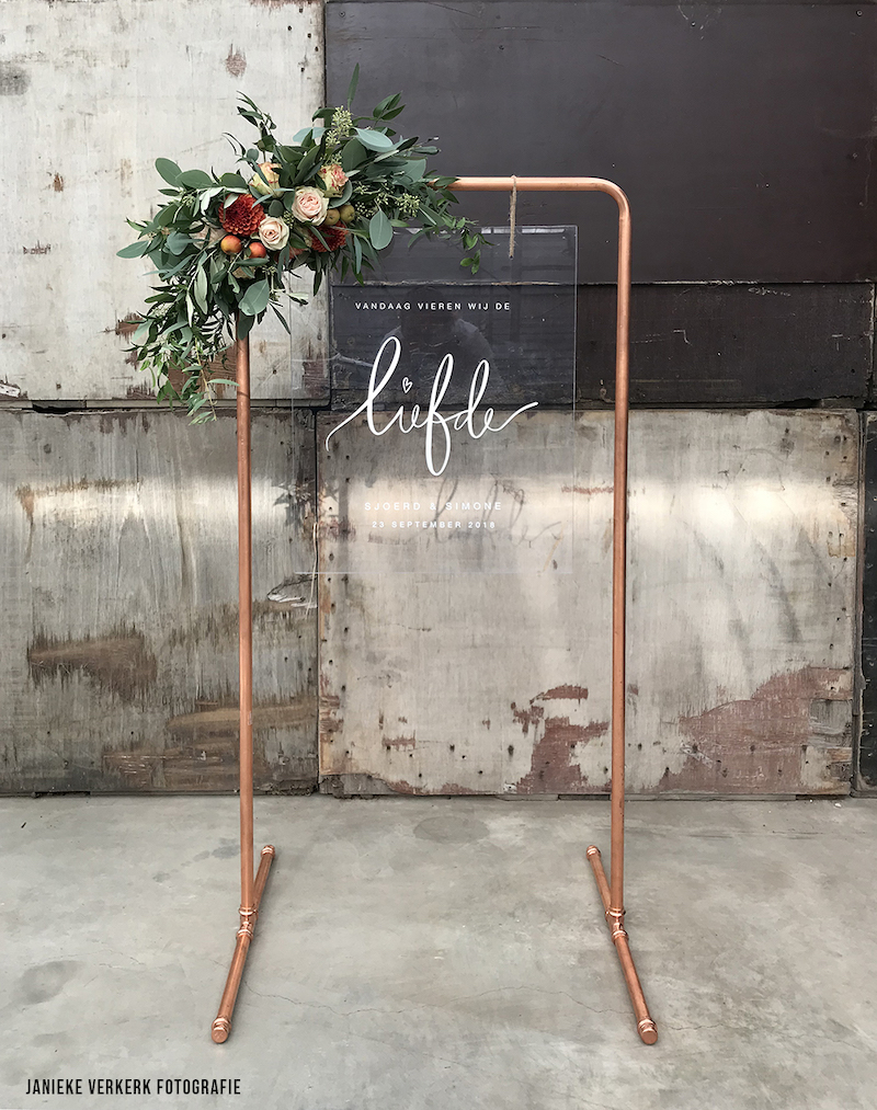 Panneau bienvenue mariage plexiglass
