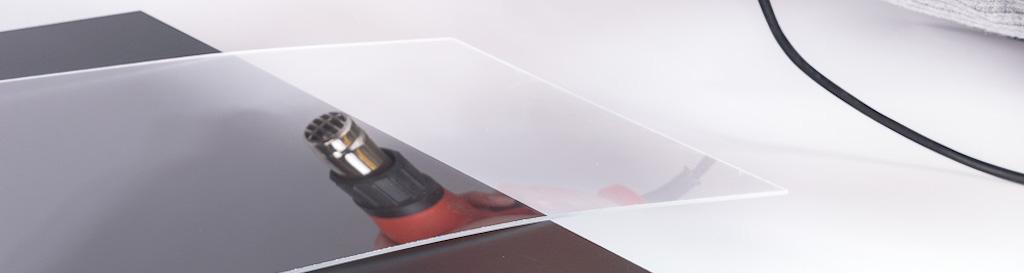 DIY table de chevet transparente