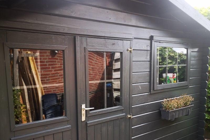 Nouvelles fenetres abri de jardin en plexiglass