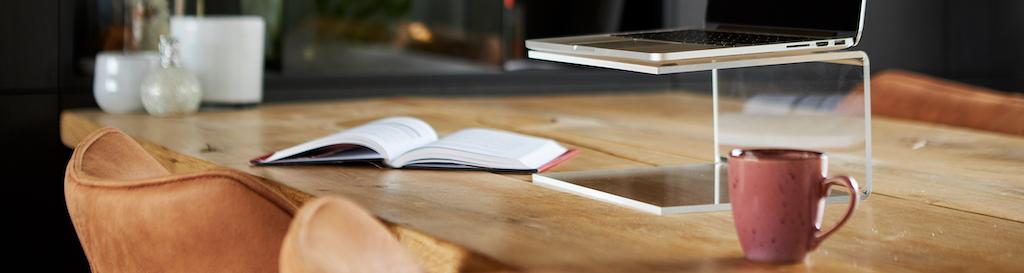 Support pour ordinateur portable en plexiglass