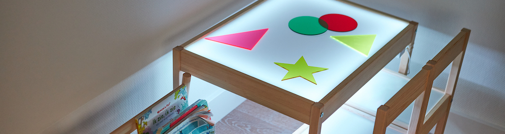 Fabriquer une table lumineuse Ikea hack