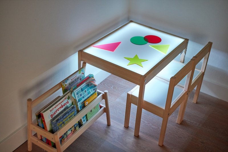 Fabriquer une table lumineuse resultat final