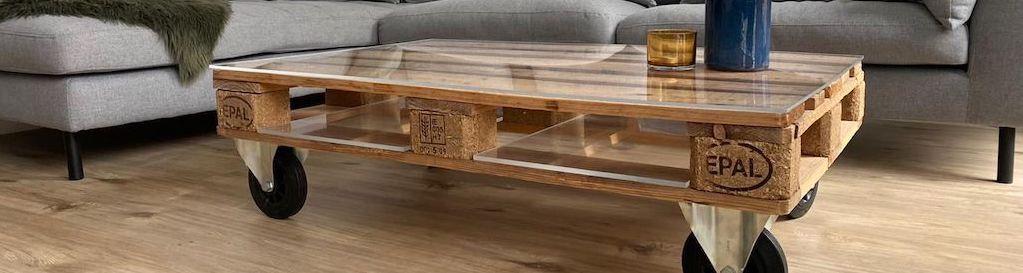 une table de salon en palette