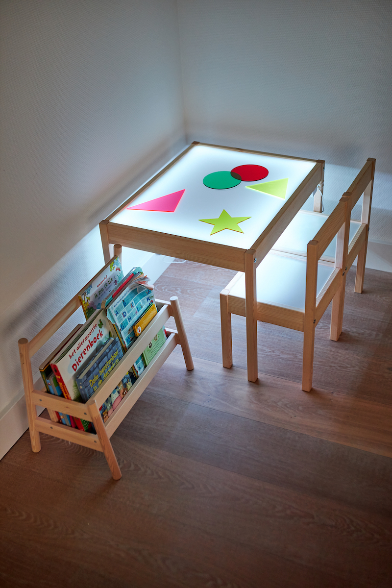 Table lumineuse enfent hack Ikea