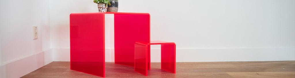 Réaliser une table d'appoint en plastique