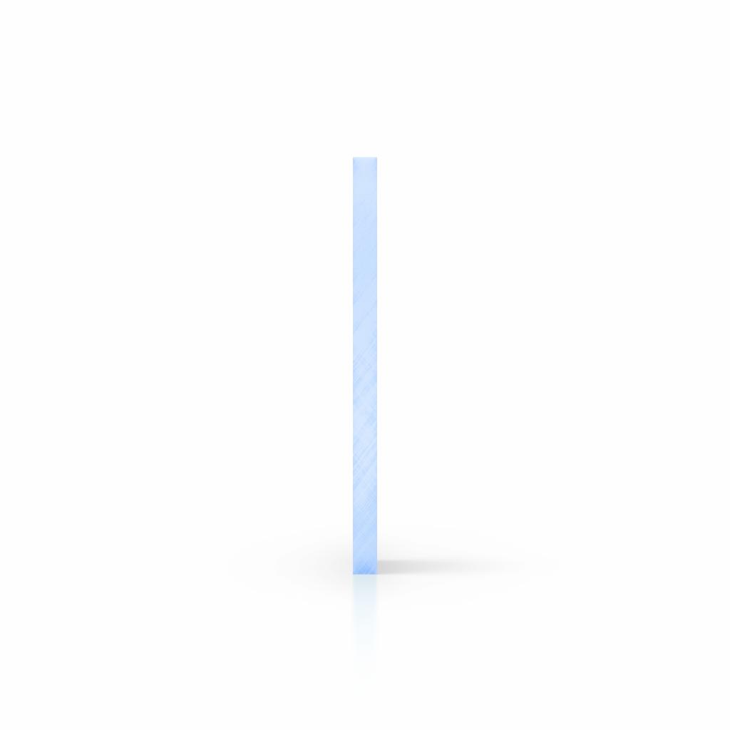 Cote plexiglass fluorescent bleu
