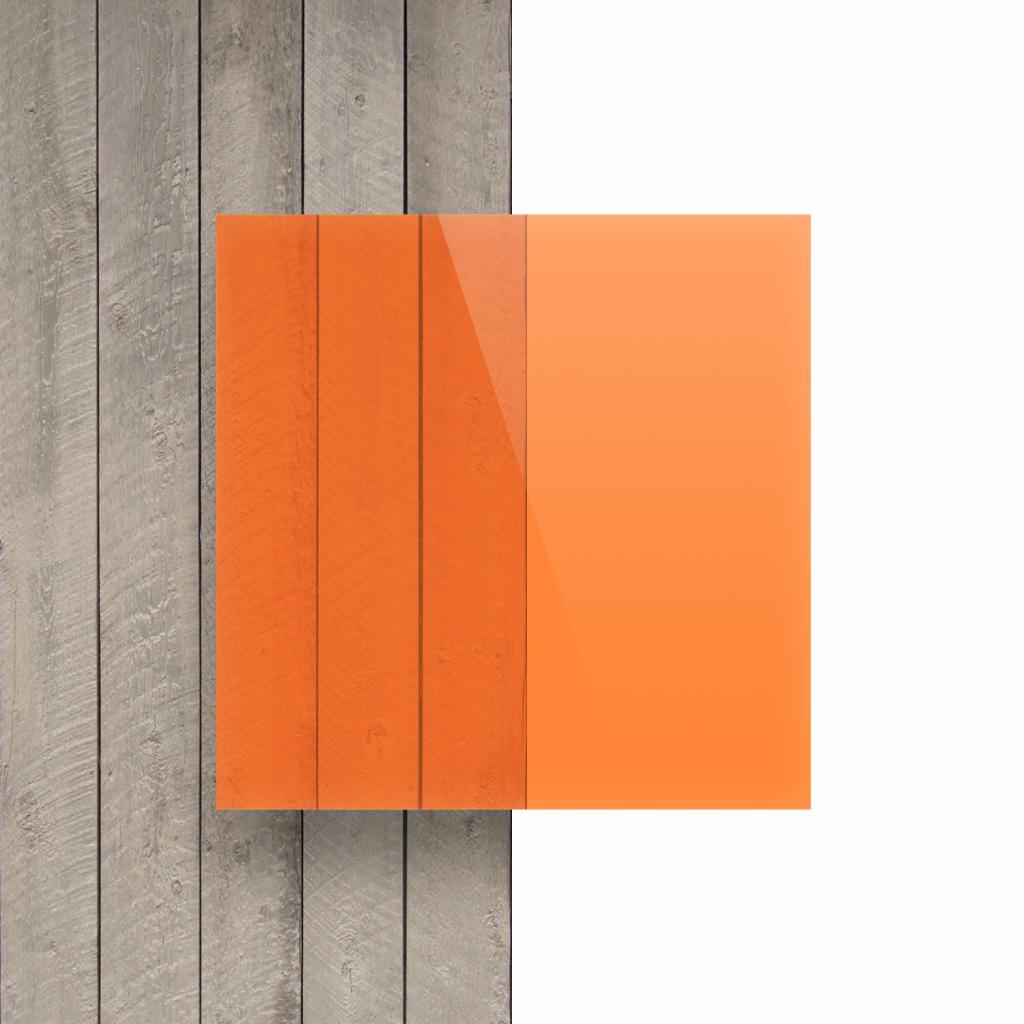 Devant Plexiglass fluorescent orange