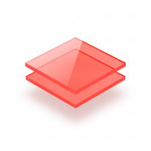 Plaque plexiglass rouge fluorescent