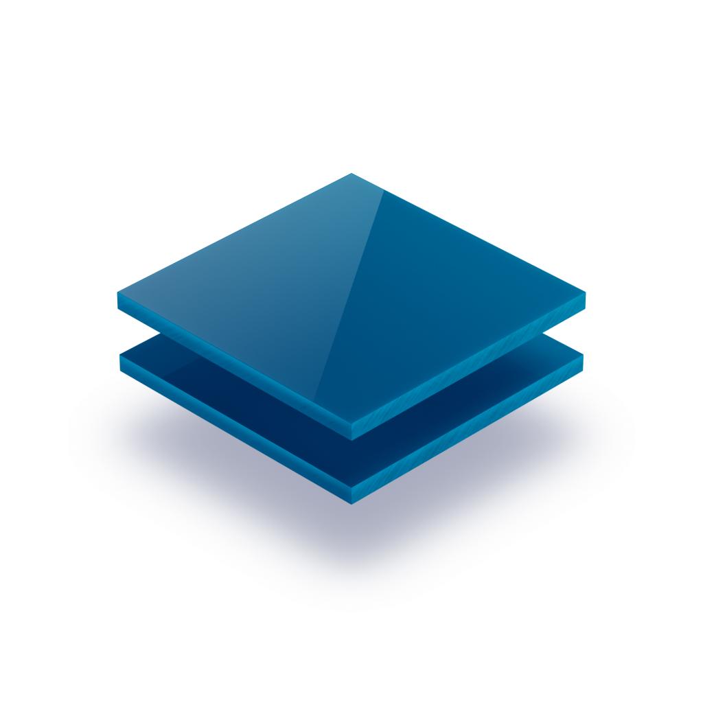 Plaque avec lettres bleu signalisation 8mm