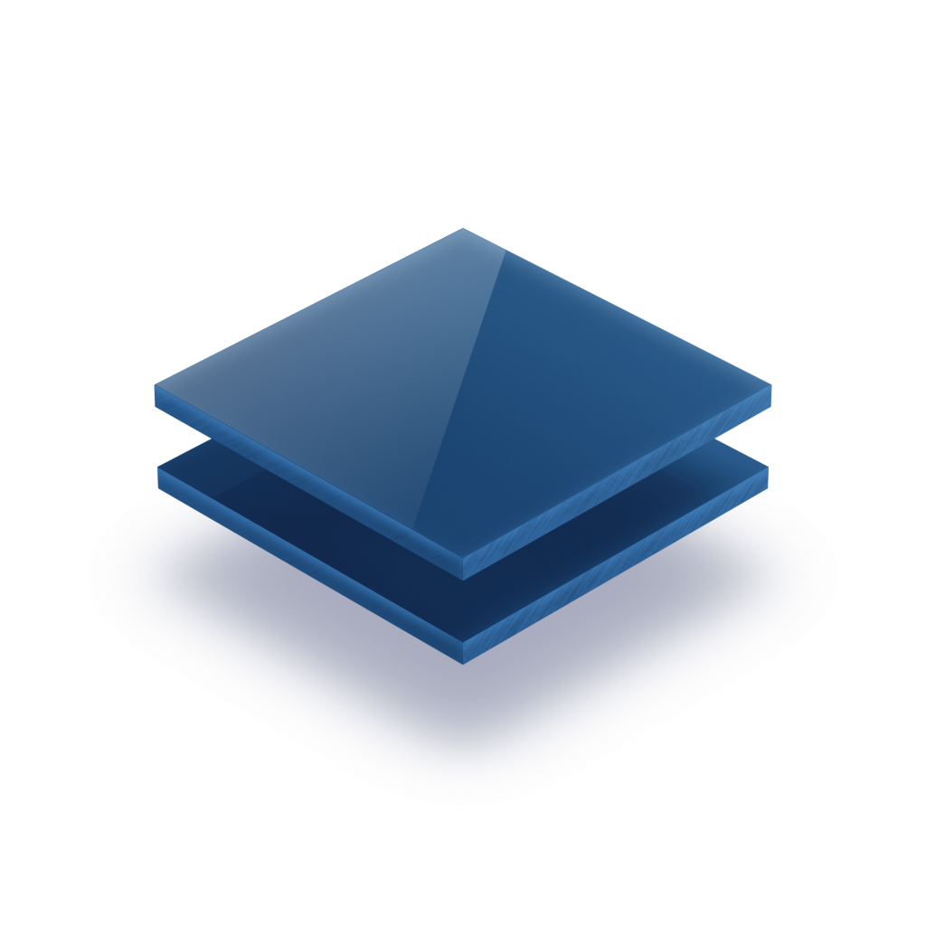 Plaque avec lettres blue 8mm