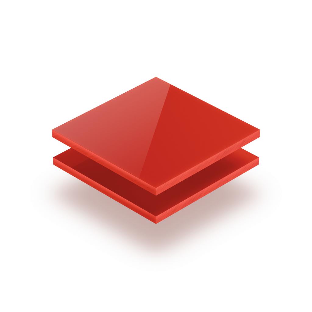Plaque avec lettres rouge signalisation 8mm