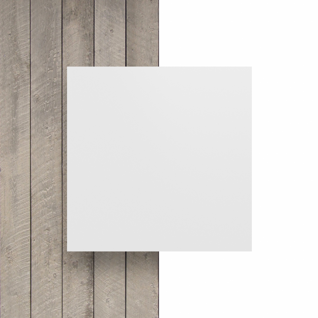Devant plaque de lettres blanc mat