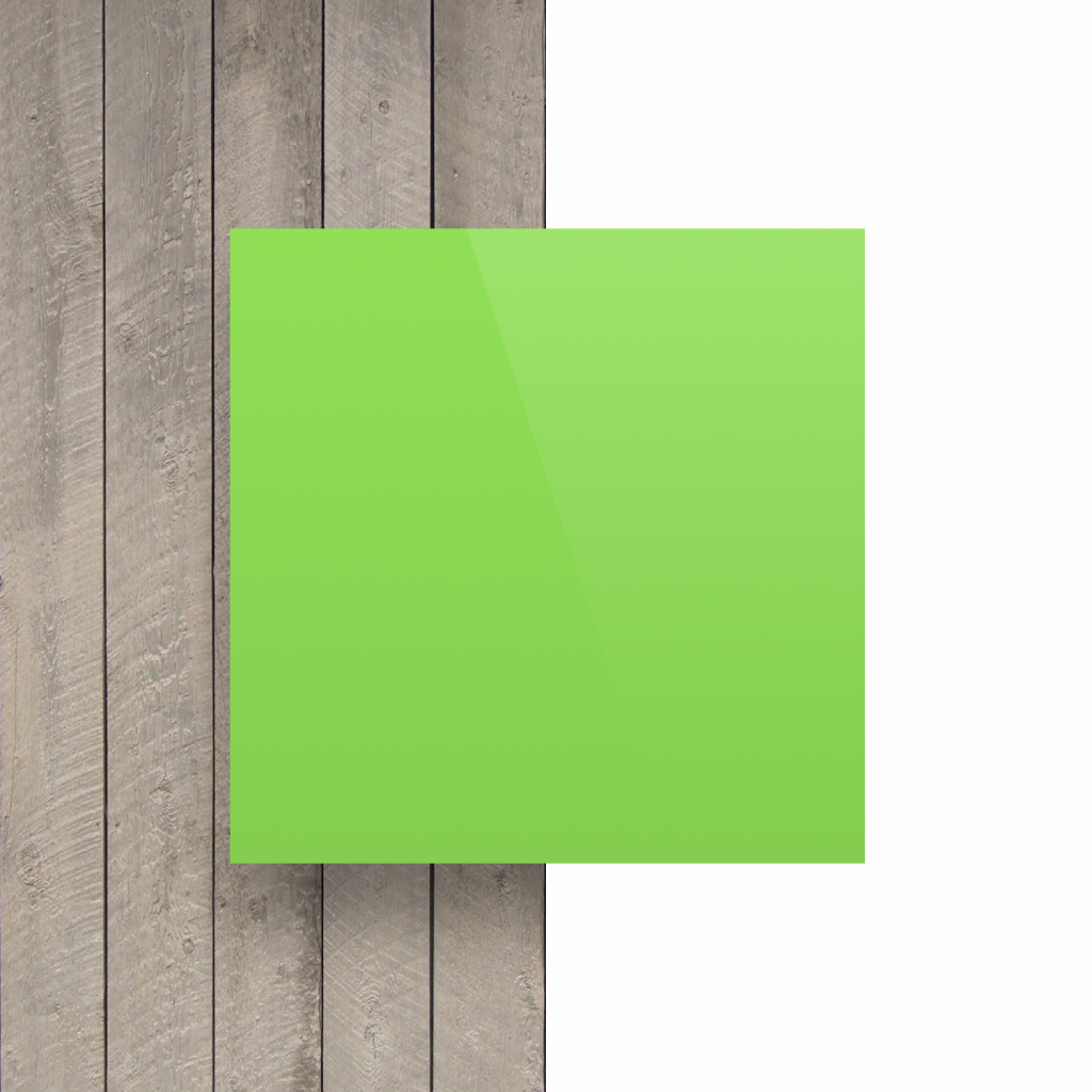 Devant plaque de lettres vert jaune brillant