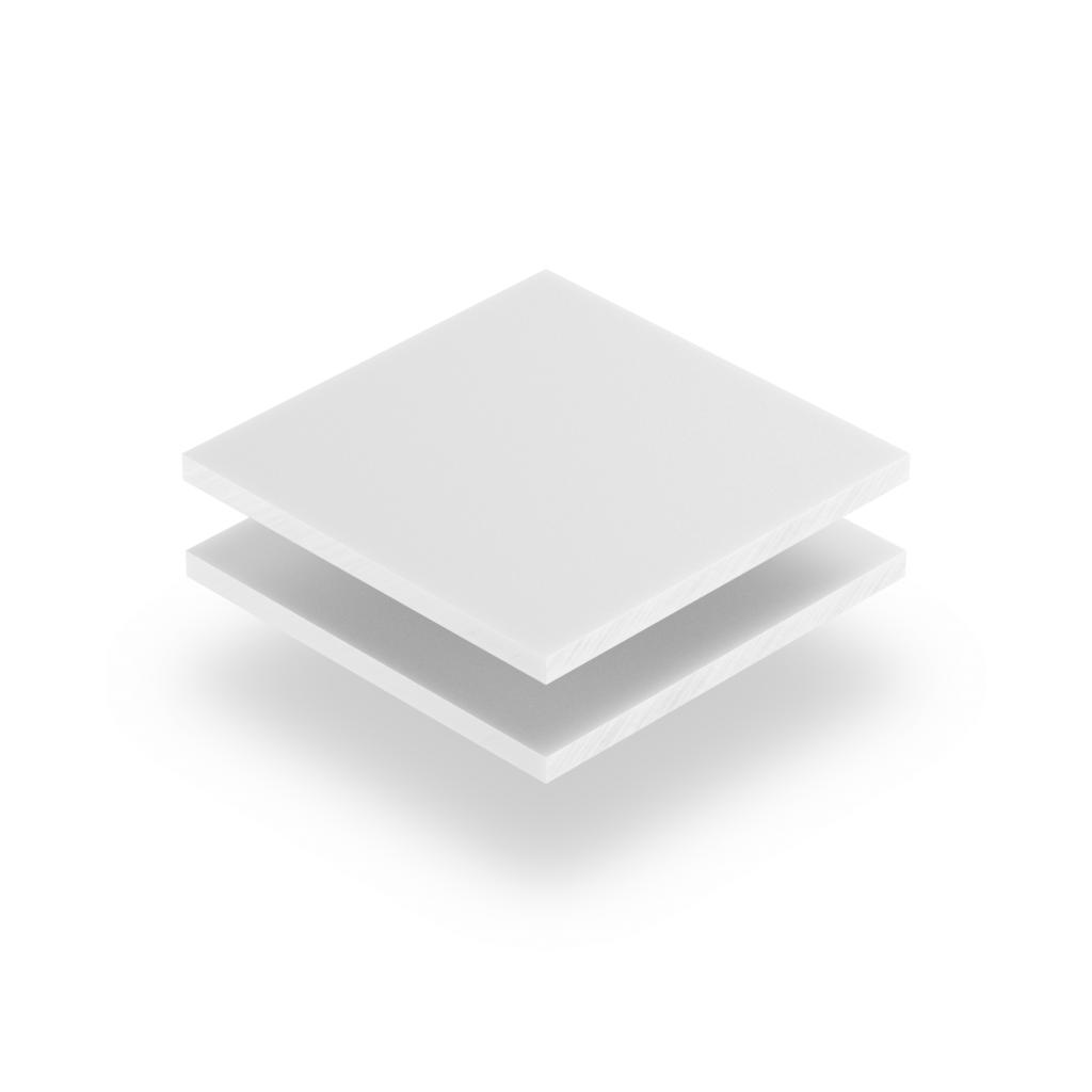 Panneau de lettres en plexiglass blanc mat