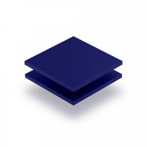 Panneau de lettres en plexiglass bleu nocturne mat