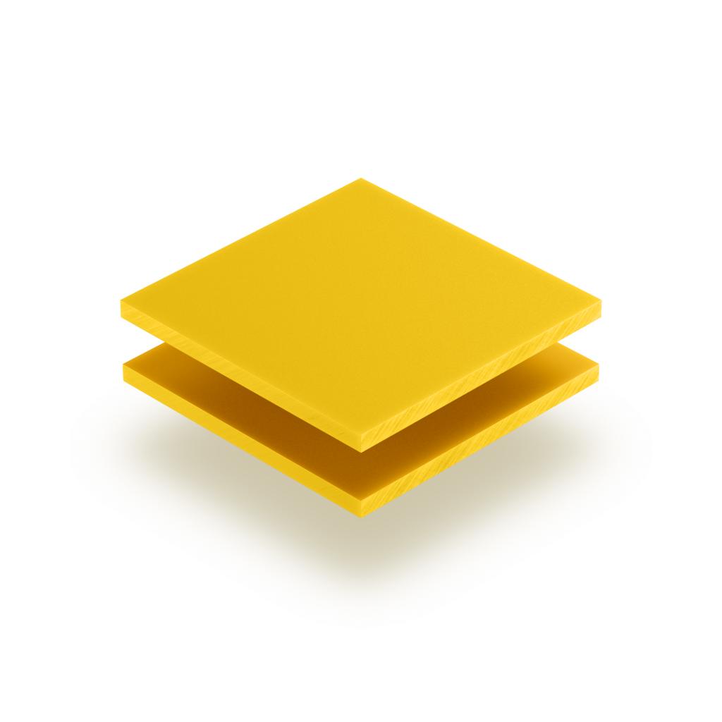 Panneau de lettres en plexiglass jaune signalisation mat