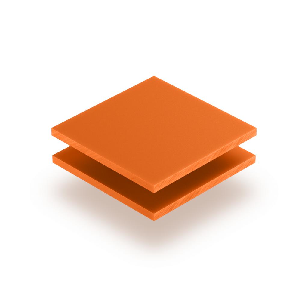 Panneau de lettres en plexiglass orange mat