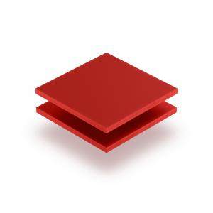 Panneau de lettres en plexiglass rouge de securite mat