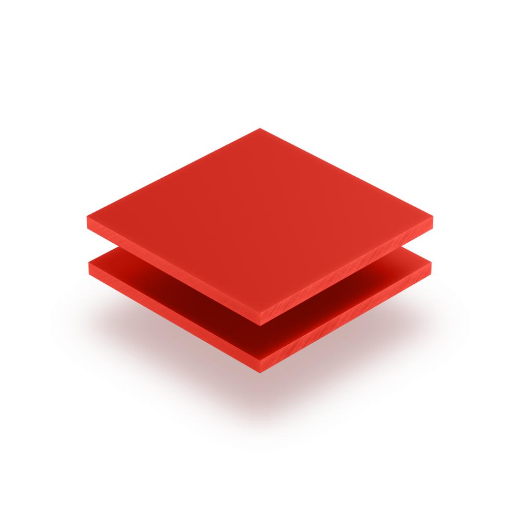 Panneau de lettres en plexiglass rouge signalisation mat