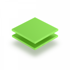 Panneau de lettres en plexiglass vert jaune mat