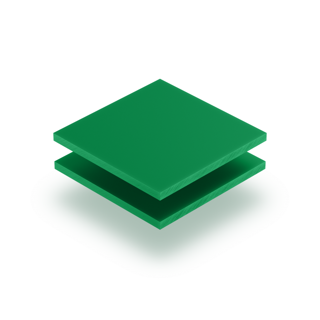 Panneau de lettres en plexiglass vert menthe mat