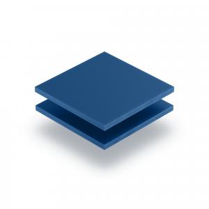 Panneau de lettres en plexiglass bleu mat