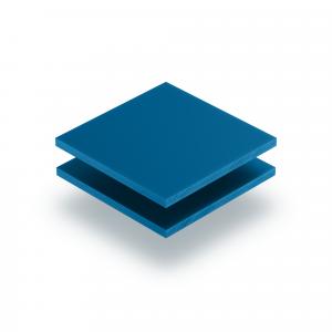 Panneau de lettres en plexiglass bleu signalisation mat