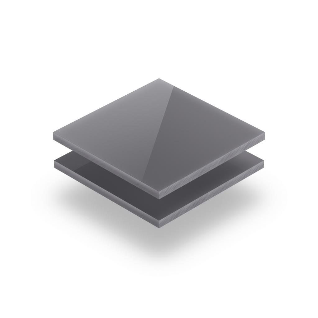 Panneau de lettres en plexiglass brillant gris