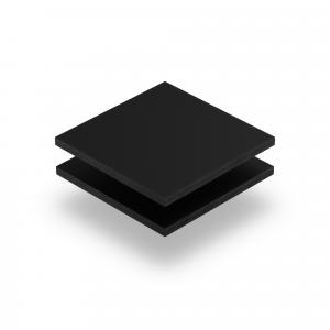Panneau de lettres en plexiglass noir mat